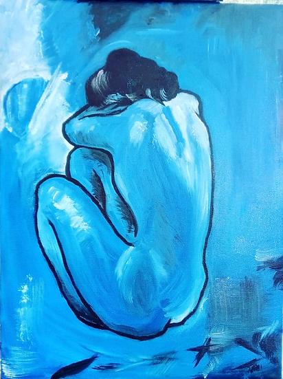 Picasso Blue Woman (artist interpretation)
