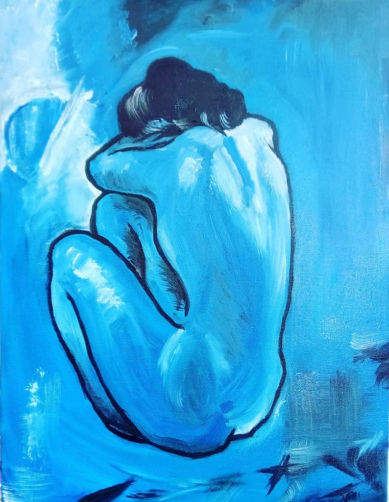 Picasso Blue Woman (artist interpretation)