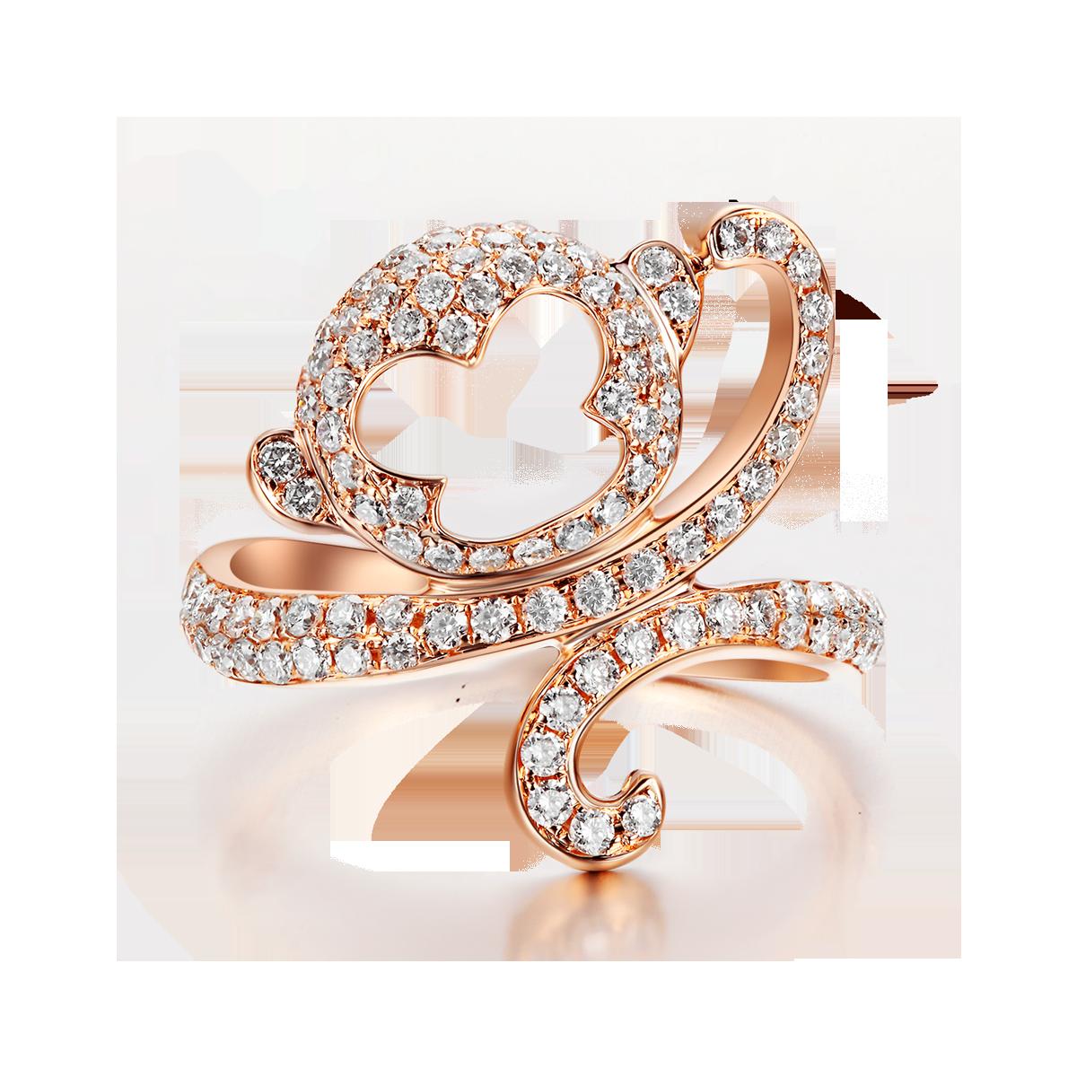 天然白鑽彌猴戒指 LDTSR0163