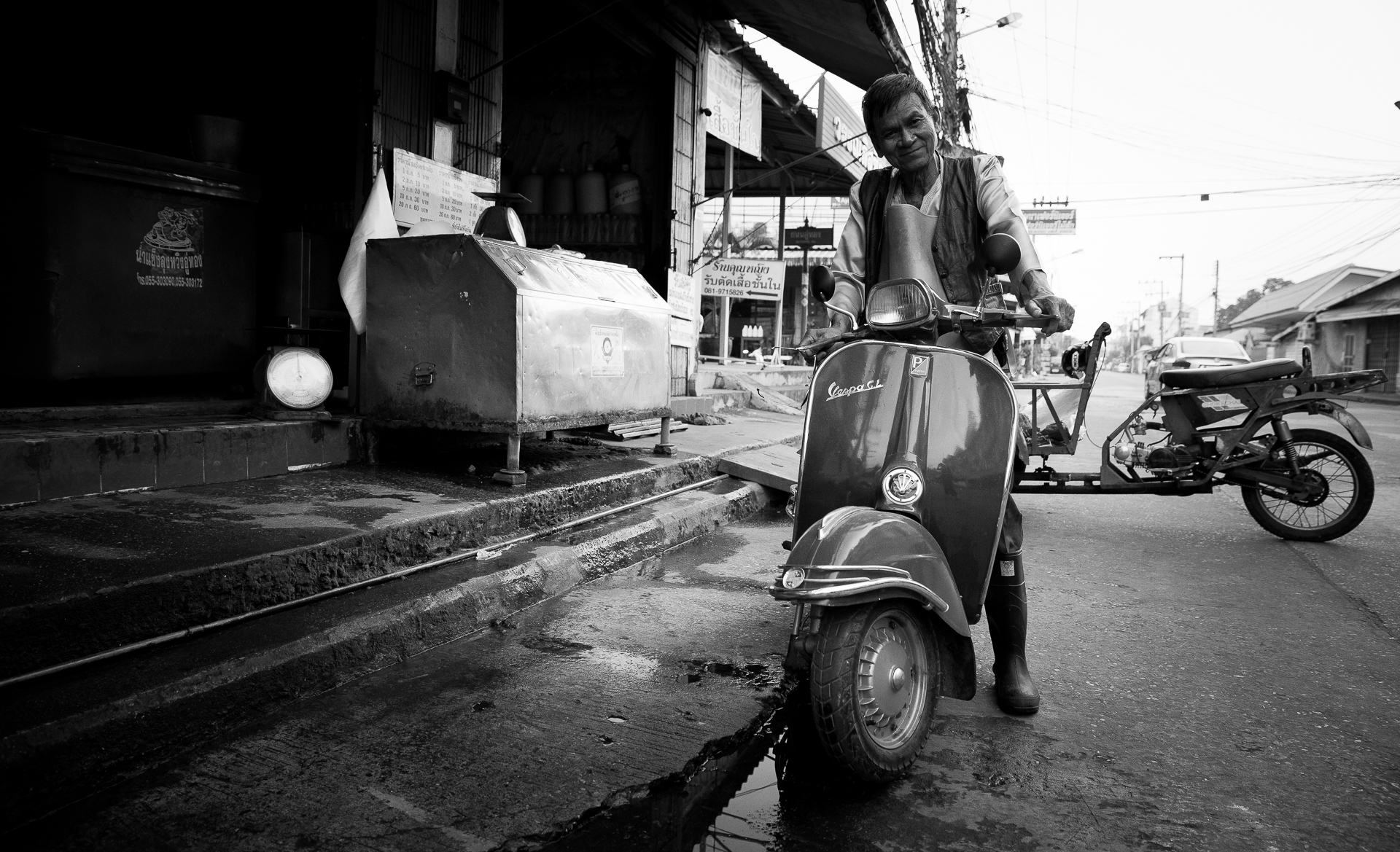 Vespa's are everywhere, Thailand