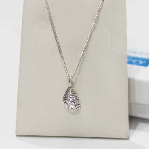 Mussel Shell Silver Pendant