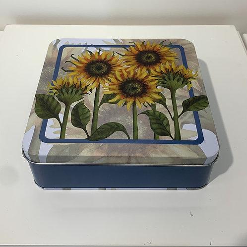 Sunflower Tin