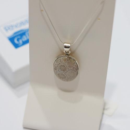 Silver, Stone Pendant