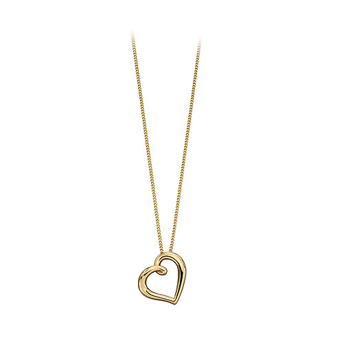 9ct Yellow Gold Heart Pendant.