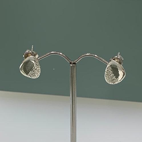 Silver Pebble Studs