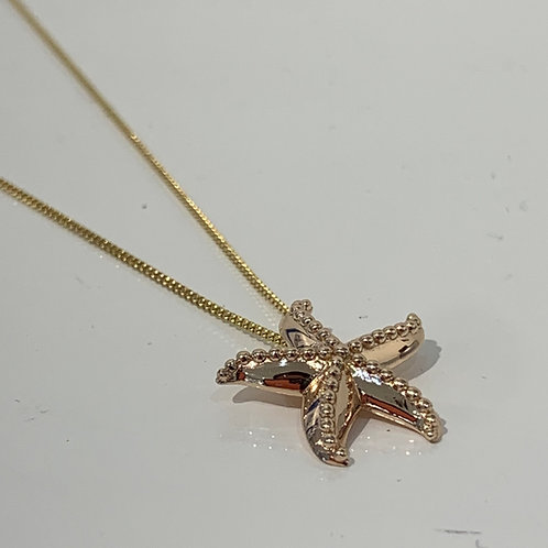 Gold plated silver starfish Pendant