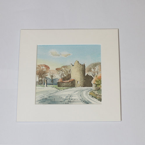 Original Watercolour of Perriswood, Oxwich Turning