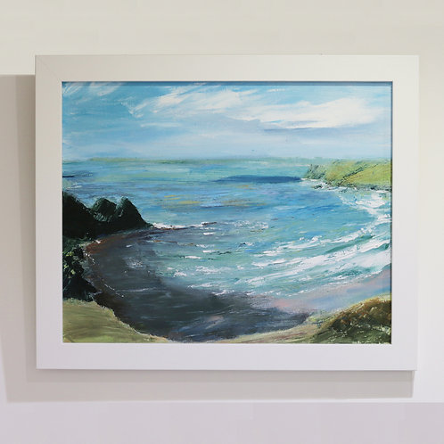 Original Painting of Three Cliffs Bay