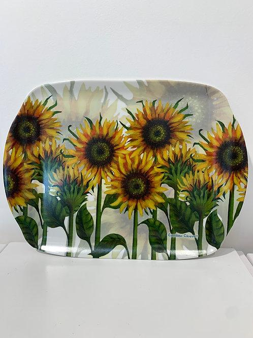 Sunflower Melamine tray