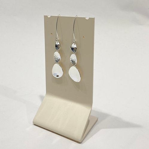 Triple Pebble Drop Earrings