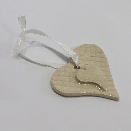 Hanging ceramic Heart Decoration