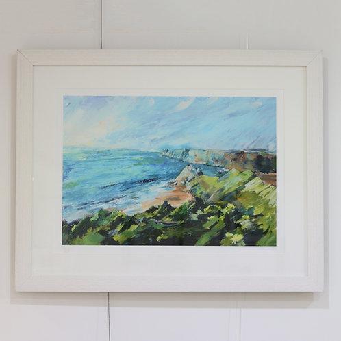 Framed Print Of Three Cliffs