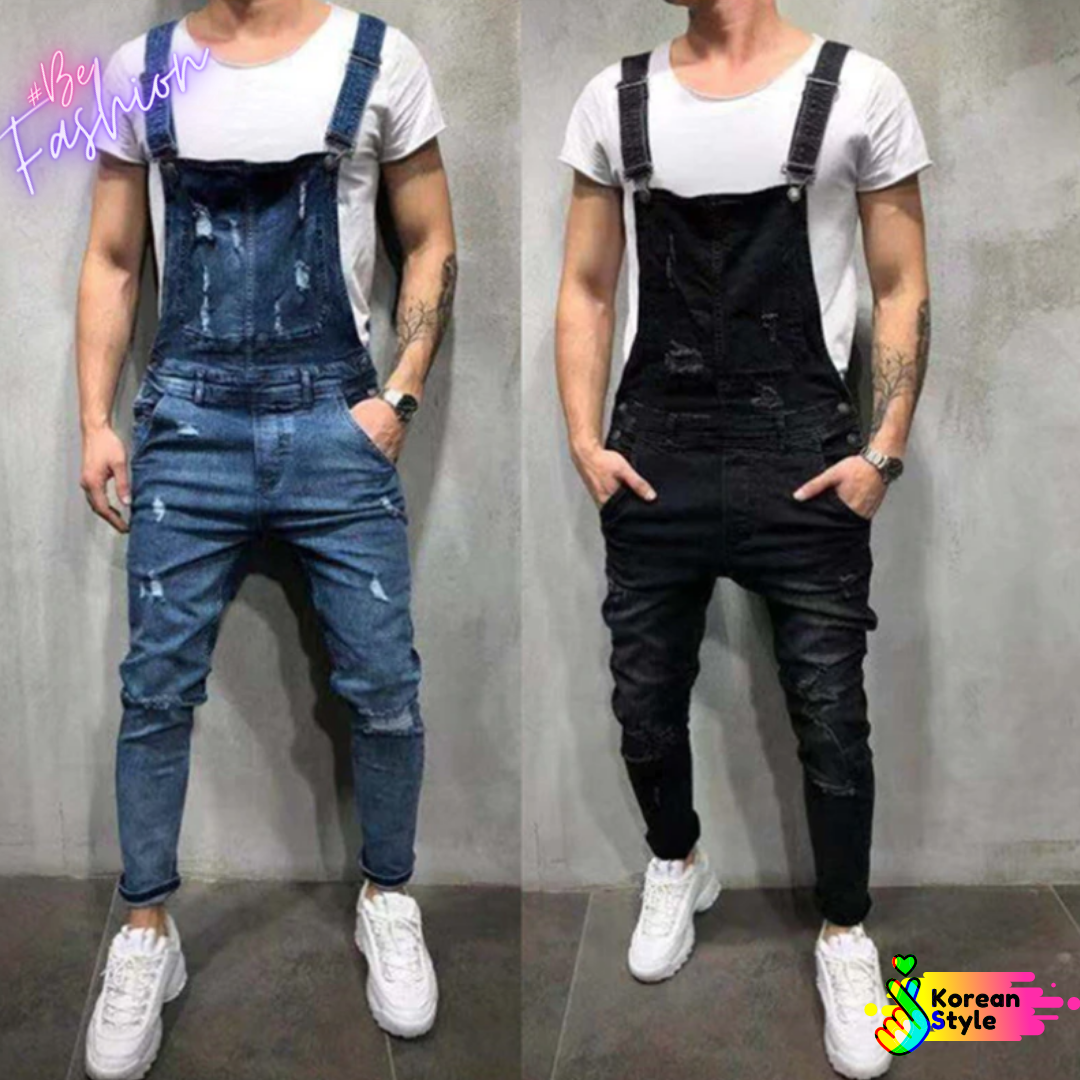 Jumpsuit Men Korean Style  Ropa Coreana en Mexico