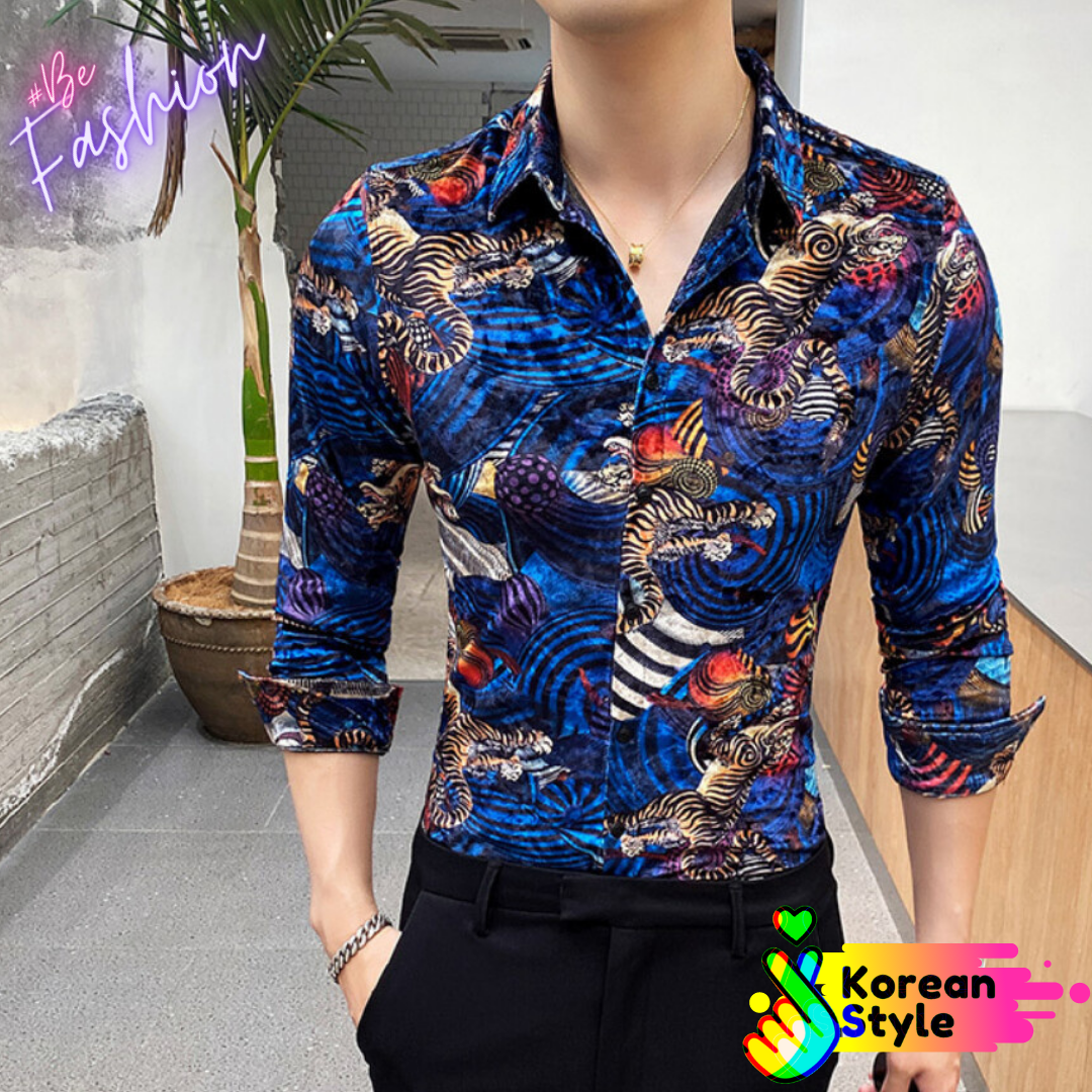 Camisa Shirt for Men Korean Style  Ropa Coreana en Mexico