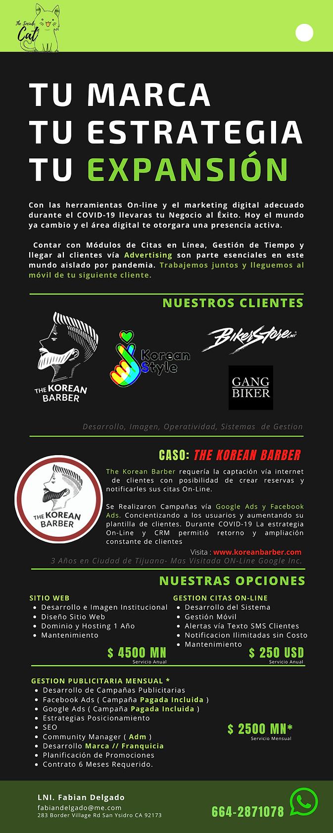 The Social Cat __ Servicios Barbershop N