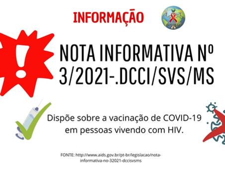 NOTA INFORMATIVA Nº 3/2021-.DCCI/SVS/MS