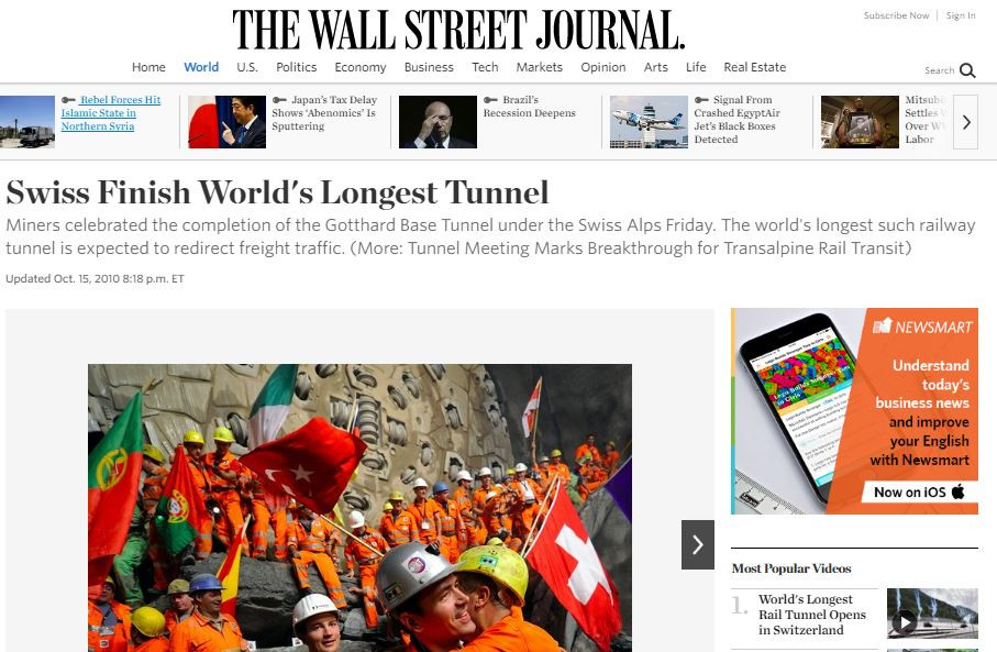 The Wall Street Journal - Gotthard