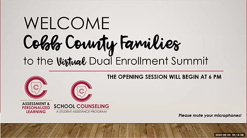 CCSD General Session from Dual Enrollment Summit 9.3.2020