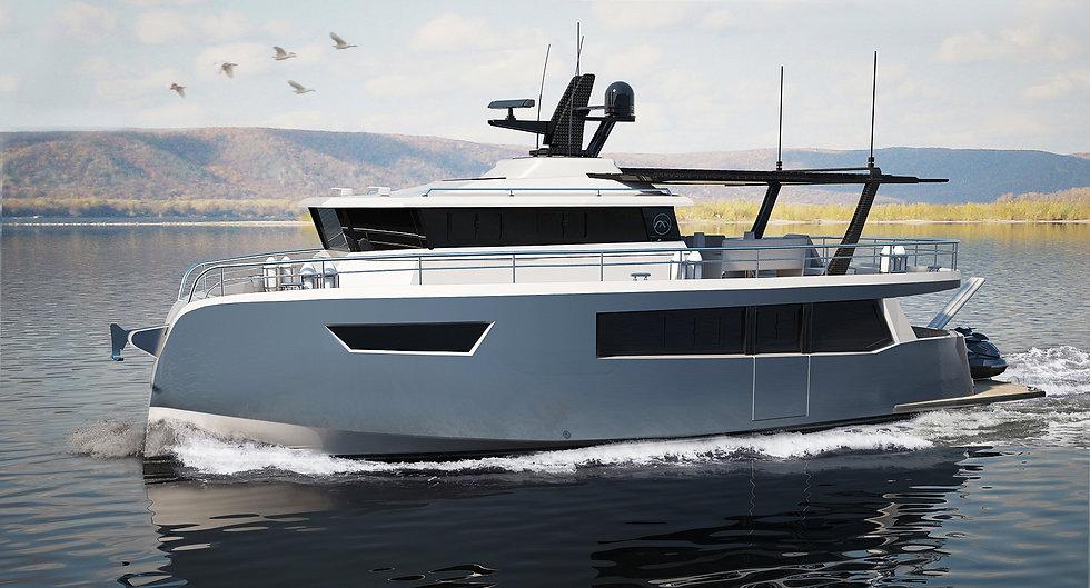 Hybrid motor yacht B-14