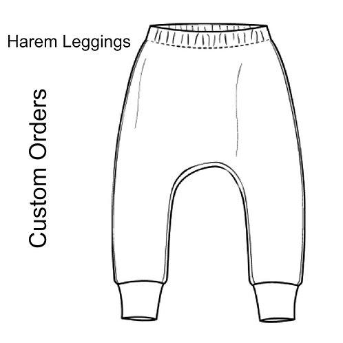 Unisex Harem leggings listing for custom orders