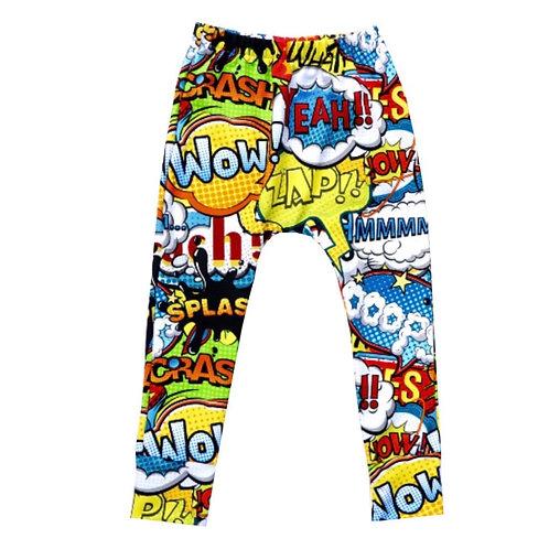 Childrens Comic Strip leggings suitable for both boys & girls