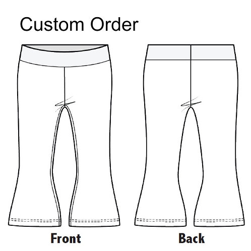 Childrens Flared Trousers made from stretch Jersey