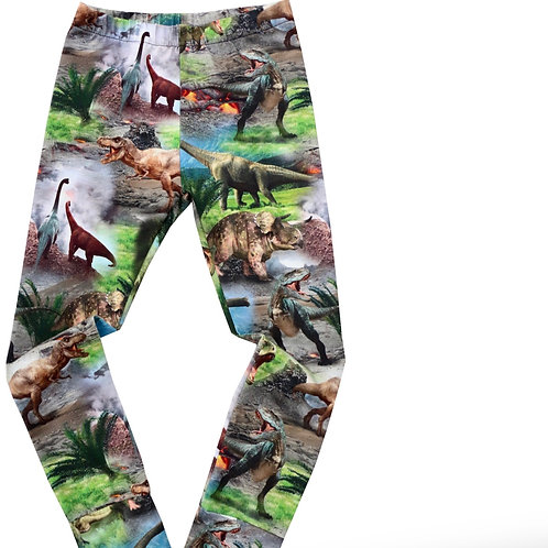 Childrens Dinosaur Leggings in a stunning realistic print