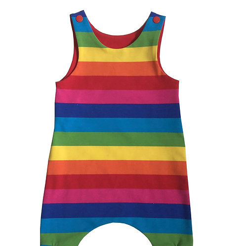 Rainbow Baby & Toddler Harem Romper. Cake smash party outfit