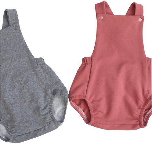 Classic unisex baby rompers made from Jersey