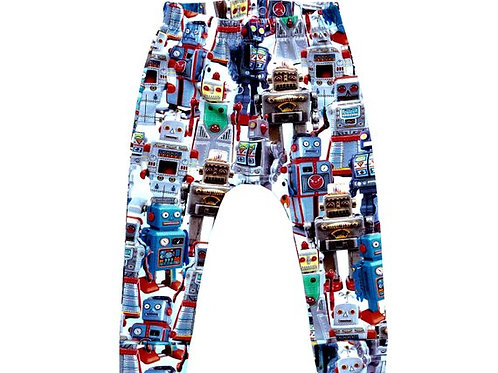 Boys Robot Leggings in a stunning realistic print of rainbow colours