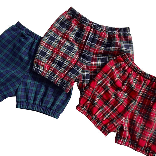 Trendy Tartan Baby Bloomers in soft brushed cotton