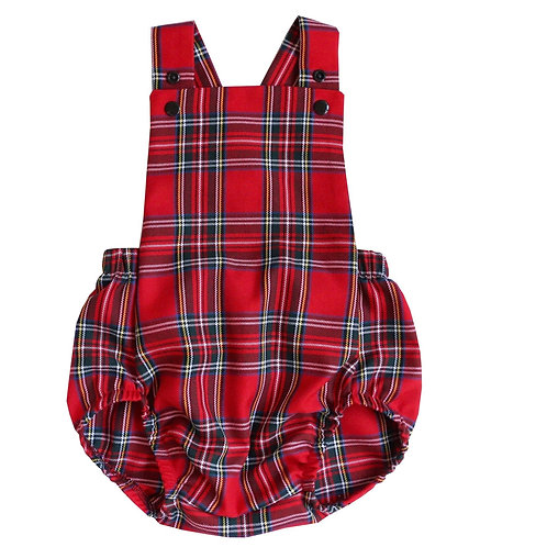 Tartan Baby Romper, this short style romper is great for special occasions