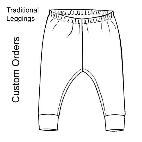 Unisex Traditional Leggings listing for custom orders