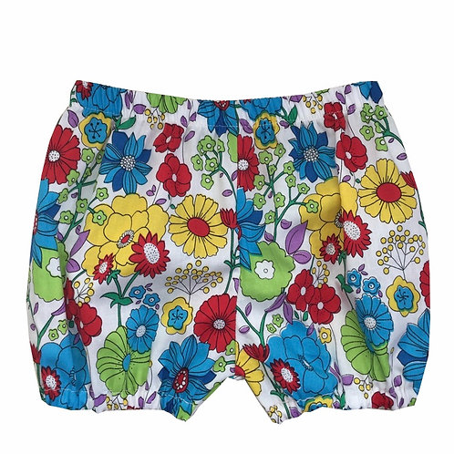 Retro Style, Floral Baby Bloomers in soft cotton