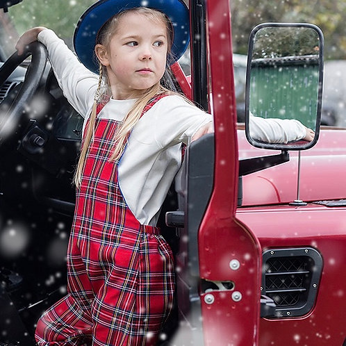Kids Tartan Salopettes / Dungarees suitable for boys and girls