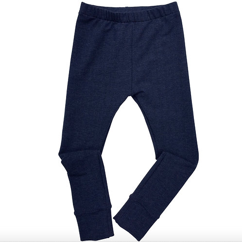 Kids Herringbone leggings made from French Terry Jersey
