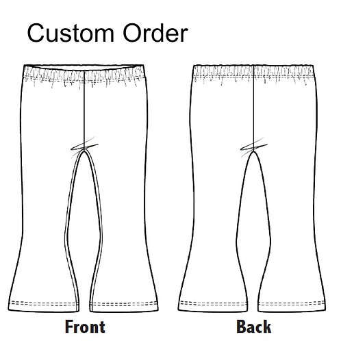 Childrens Flared Trousers stretch Jersey listing for custom orders