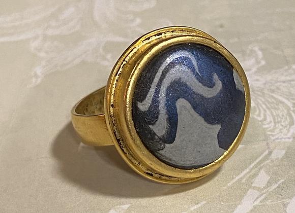 Iridized Black & Silver Ring