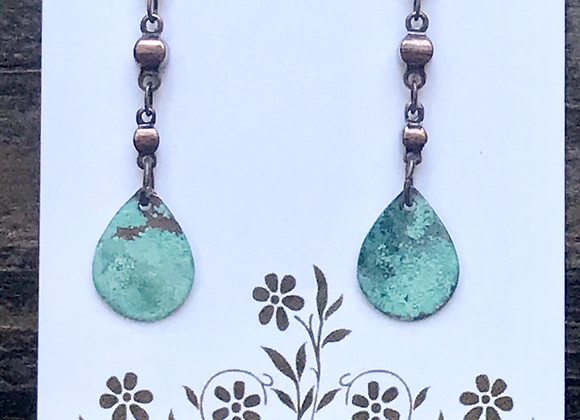 Copper Patina Earrings