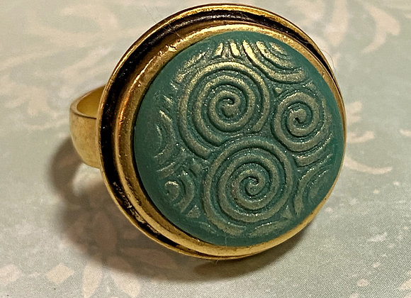 Green and Gold Ring
