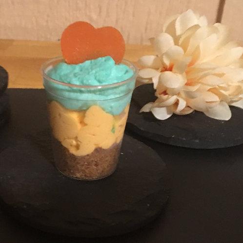 Mini Mango Cheesecake Shooters