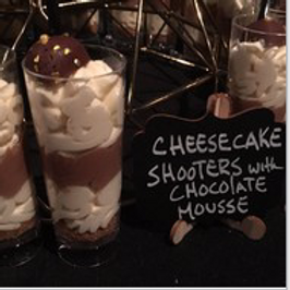 Cheesecake Shooters With Chocolate Mousse