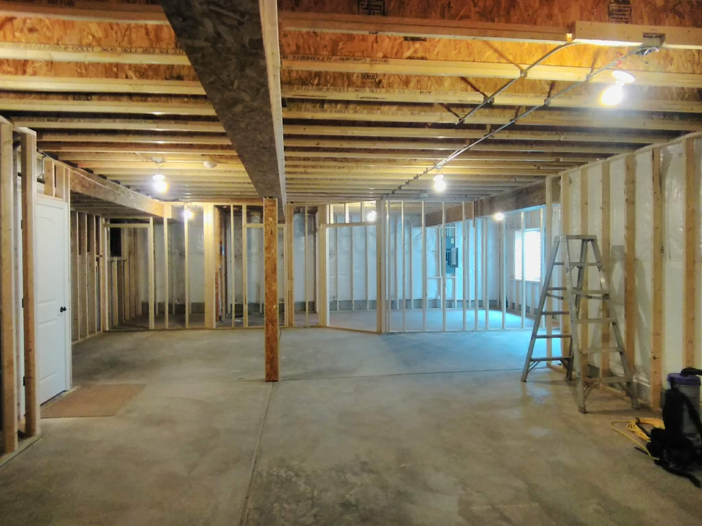 Framing Out Lower Level