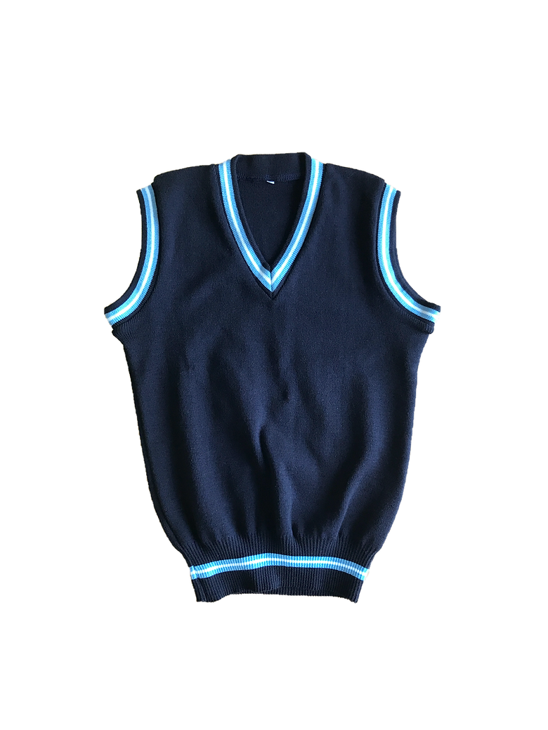 Sleeveless school jersey