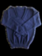 Navy Long Sleeve Double Rib + Epaulettes