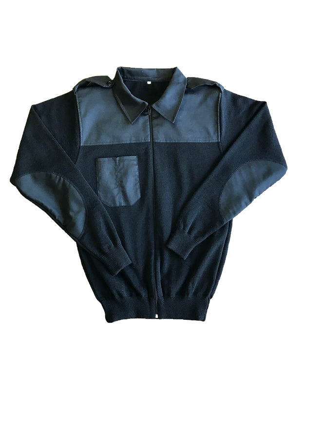 Long Sleeve Workshop Zipper with Pockeys and Elbow Patches