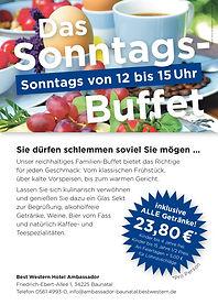 Flyer Sonntags-Buffet