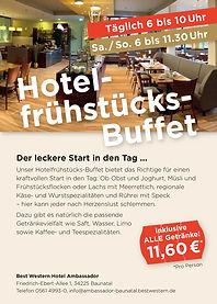 Flyer Hotelfrühstücks-Buffet