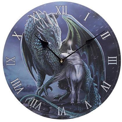 Protector Magick Dragon & Unicorn Clock - Lisa Parker