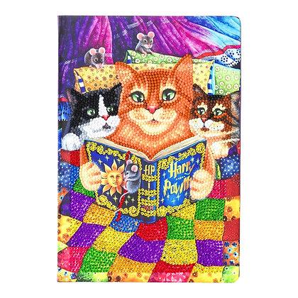 Kitten Bedtime Crystal Art Notebook